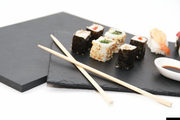 Schieferplatte Buffet / Deko/ Sushi / 19,5  x 30,0 cm