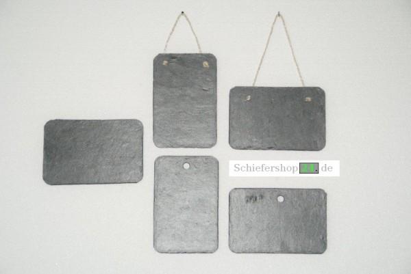 Schieferplatte Wandtafel 14,5 x 9,5 cm