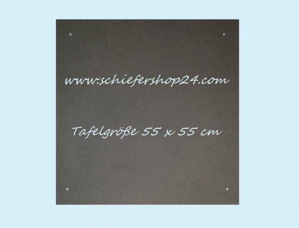 Schieferplatte Wandtafel 55 x 55 x 1 cm