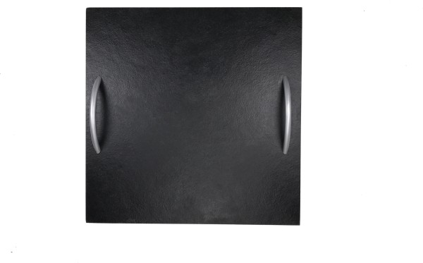 Schieferplatte Quadrat mit Griff 45x45 cm