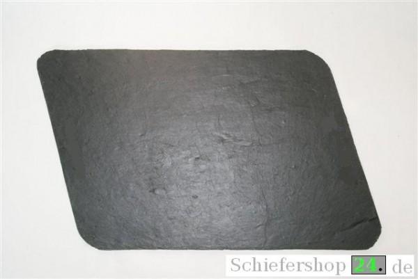 Schieferplatte 30 x 40 cm, Raute