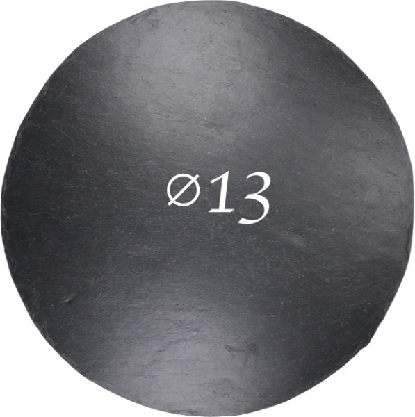 Schieferplatte Ø 13 cm, Rund
