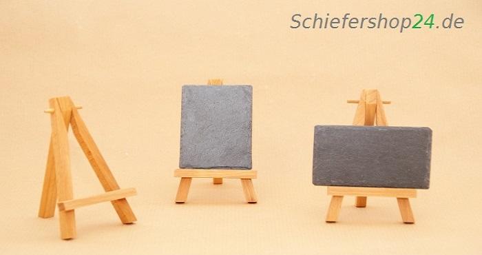 Schiefertafel 5 5 x 8 5 cm mit holz staffelei schiefershop24 - Schiefertafel wand ...
