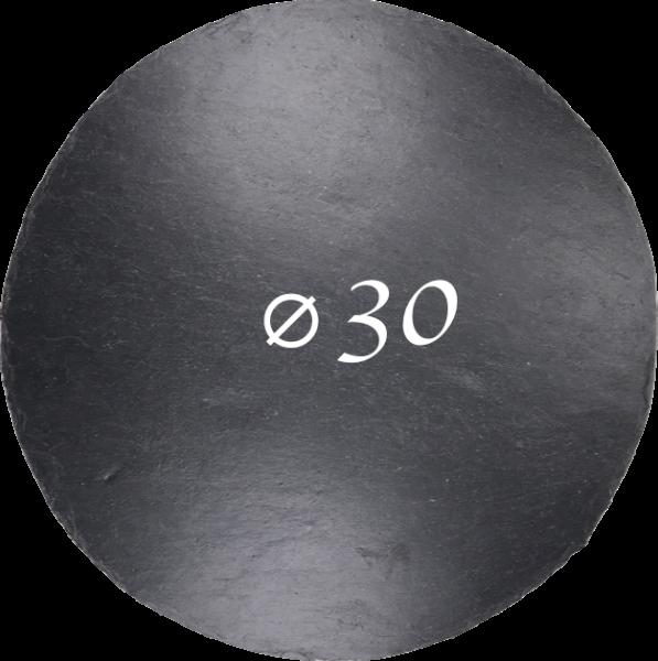 Schieferplatte Ø 30 cm, Rund