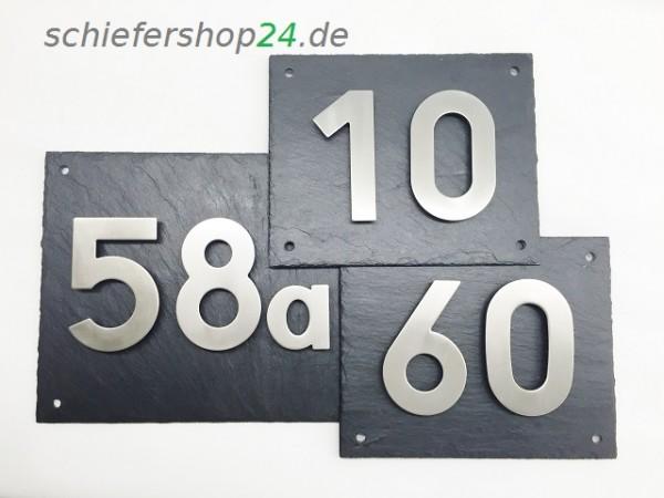Schieferplatte mit Hausnummer - 2 stellig
