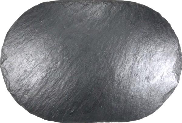 Schieferplatte 25 x 50 cm, oval