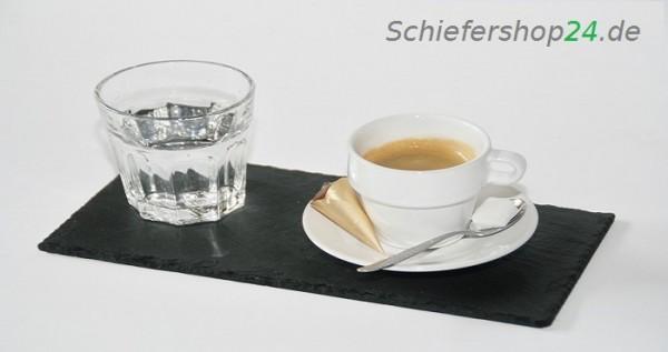 Schieferplatte 12 x 25 cm Espresso-Tablett