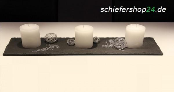 Schieferplatte Dekotablett 14,5 x 40 cm