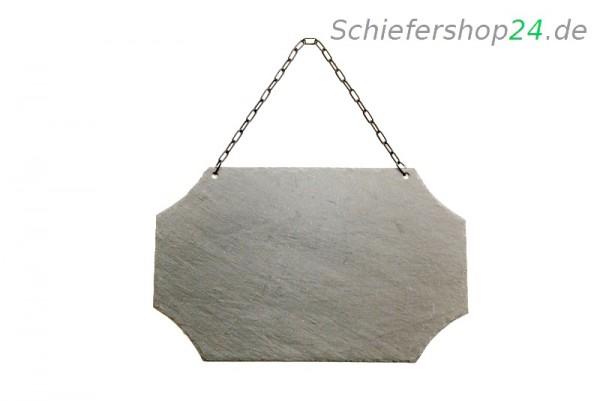 Schieferplatte Wandtafel 25 x 40 cm mit gestutzen Ecken