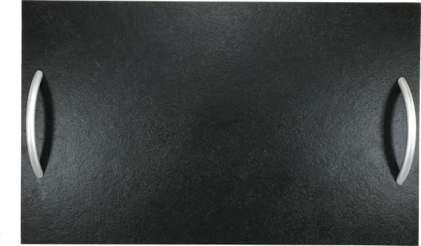 Schieferplatte Rechteck mit Griff 20x40 cm