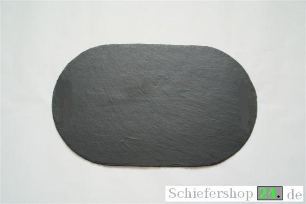Schieferplatte 20 x 40 cm, oval