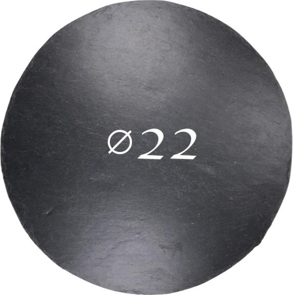 Schieferplatte Ø 22 cm, Rund