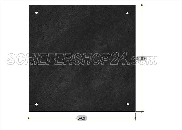 Schiefertafel Sondermaß Quadrat als Wandtafel