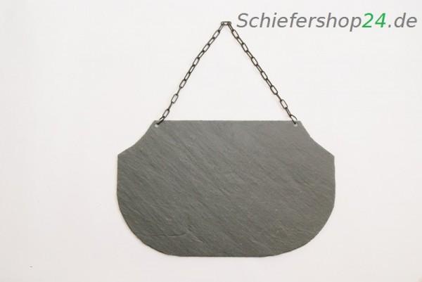 Schieferplatte Wandtafel 25 x 40 cm mit gestutzen und abgerundeten Ecken