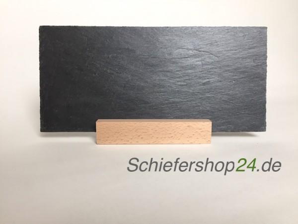 Schiefertafel 145 x 300 mm mit Holzsockel
