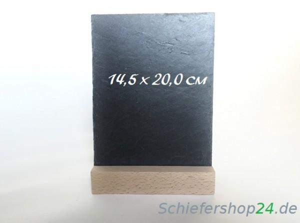 Schiefertafel 145 x 200 mm mit Holzsockel