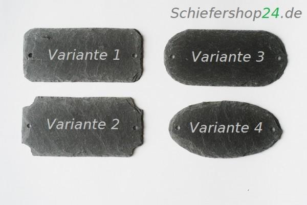Schieferplatte Türschild