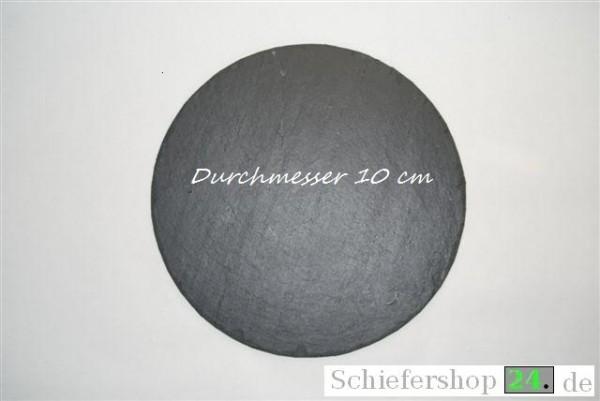 Schieferplatte Ø 10 cm