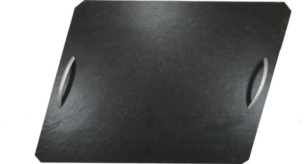 Schieferplatte Raute mit Griff 30x40 cm