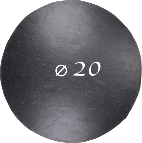 Schieferplatte Ø 20 cm, Rund