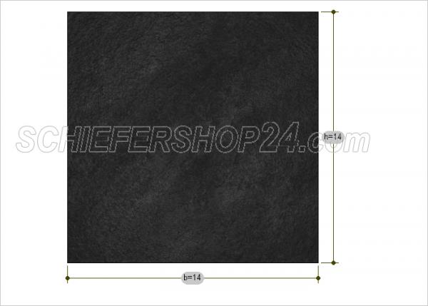 Schieferplatte Sondermaß Quadrat