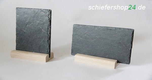 Schiefertafel 149 x 95 mm mit Holzsockel
