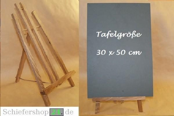 Schiefertafel 30 x 50 cm mit Holz-Staffelei