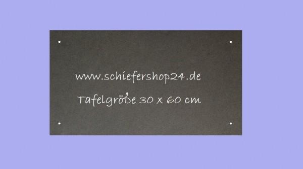 Schieferplatte Wandtafel 30 x 60 x 1 cm