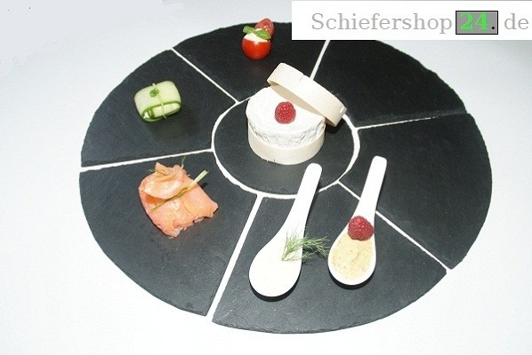 Schieferplatten Arrangement Ø 45 cm