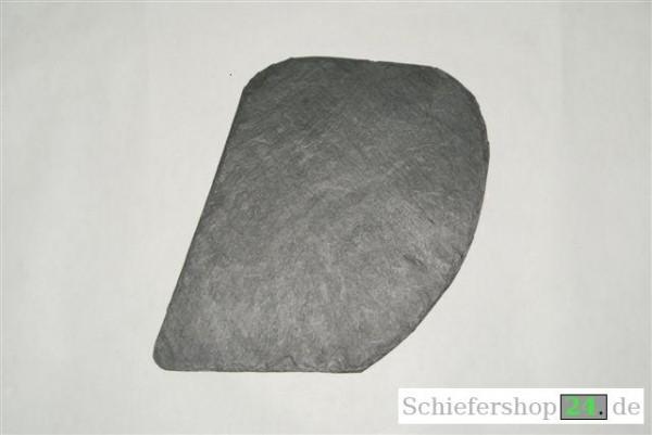 Schieferplatte 15 x 20 cm, Schuppe