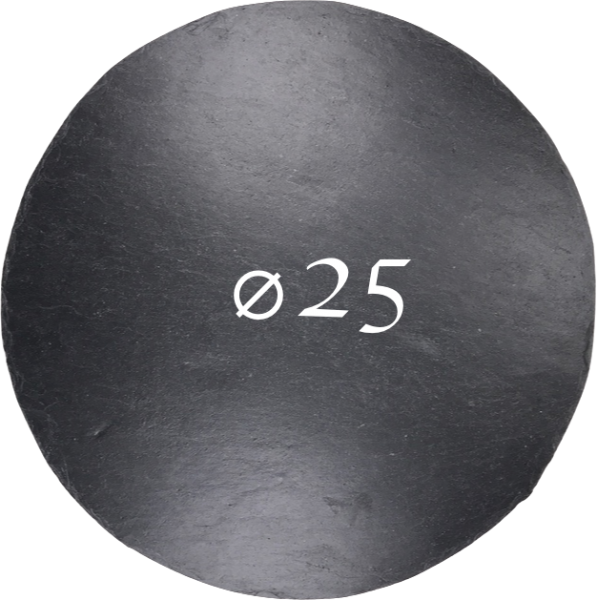 Schieferplatte Ø 25 cm, Rund