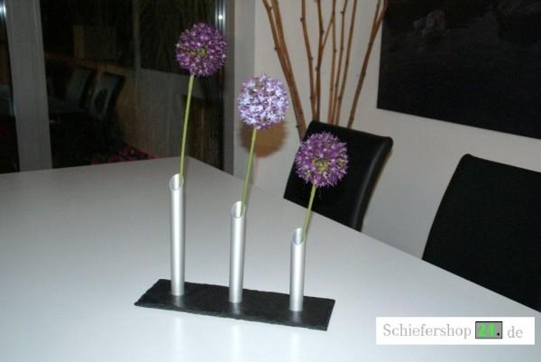Schiefer Deko-Vase, Trio