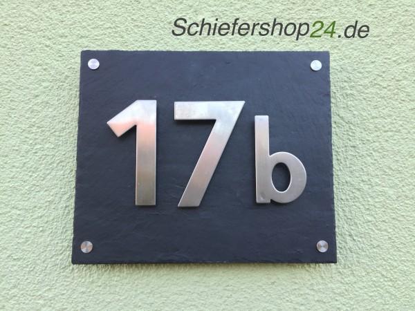 Schieferplatte mit Hausnummer - 3 stellig