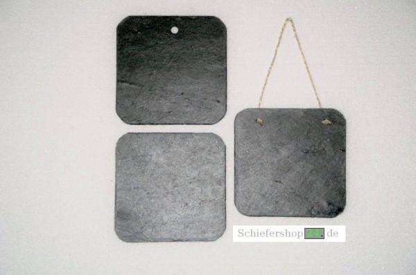 Schieferplatte Wandtafel 14,5 x 14,5 cm