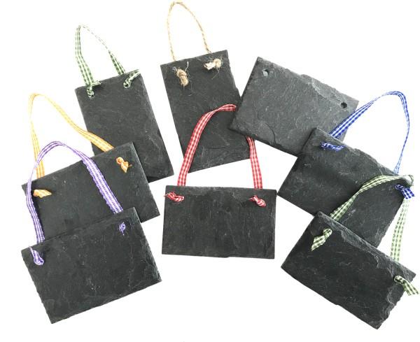 Schieferplatte Wandtafel/Geschenkanhänger 5 x 8 cm