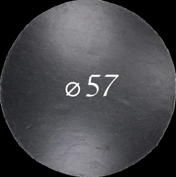 Schieferplatte Ø 57 cm, Rund