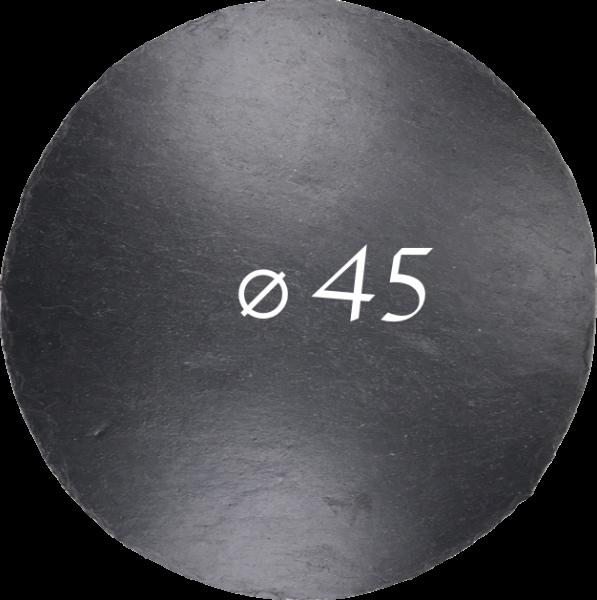 Schieferplatte Ø 45 cm, Rund