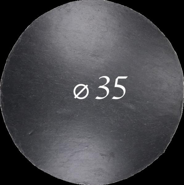 Schieferplatte Ø 35 cm, Rund
